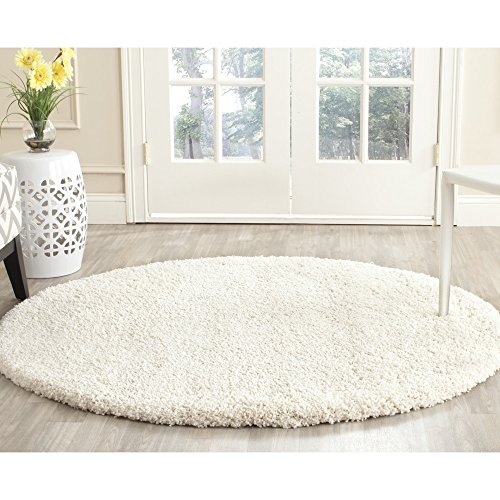 Safavieh Milan Shag Collection SG180-1212 Ivory Round Area Rug (5'1