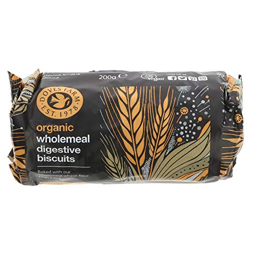 Doves Farm Organic Wholewheat Digestives (200g) - Pack of 6