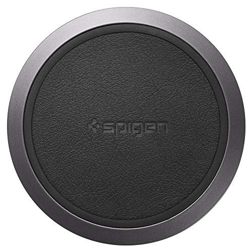 Spigen Wireless Charger Fast Qi Certified 10W Charging Pad Works with iPhone Xs MAX/XR/XS/X/8/8 Plus/Galaxy S10/S10 Plus/S10e/Note 9/S9/S9 Plus/S8 & Other Qi Devices [Adapter NOT Included]