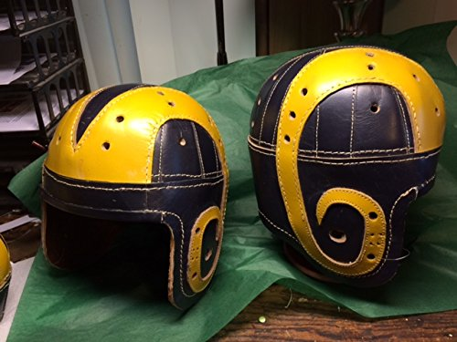 1940 Old Los Angeles Leather Football Helmet by Past Time Sports