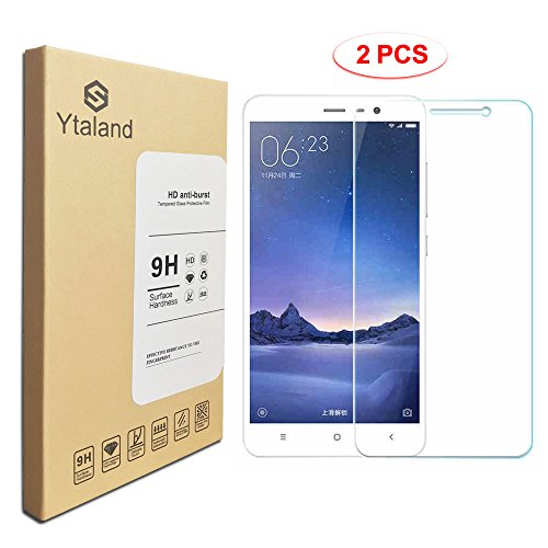 [2 Pack] XiaoMi Redmi 3 / 3X / 3s / 3 Pro Screen Protector 5.0 Inch, Tempered Glass Anti-fingerprints Thin 9H Screen Hardness Screen Protector For XiaoMi Redmi 3 / 3X / 3s / 3 Pro