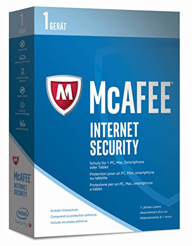 McAfee Internet Security 2017 - 1 Gerät Minibox [Online Code]