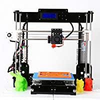 3D Printer, Trovole A8-Y8 DIY LCD Screen Acrylic Desktop 3D Printer Kit with 1.75mm ABS/PLA Printer Filament(Build size 220×220×240mm) by Trovole
