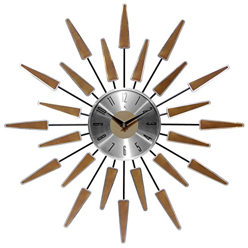 (Infinity Instruments Satellite Clock, Walnut)