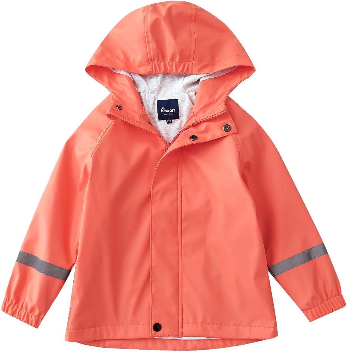 Hiheart Boys Girls Waterproof Hooded Jackets Fleece Lined Windbreaker