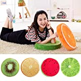 Delight eShop 3D Fruit Cushion, for Chair Seat Sofa Back, Throw Pillow Toy, by (Full Set, one of each fruit)