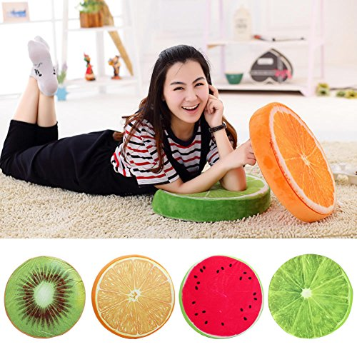 it Cushion, for Chair Seat Sofa Back, Throw Pillow Toy, by (Full Set, one of each fruit) ()