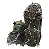 Samply Ice& Snow Traction Cleats, 19 Spike Mountaineering Climbing Crampons for Shoes, Boots