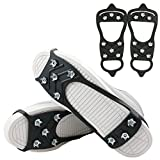 1 Pair of 8 Teeth Anti Slip Ice Snow Grips Crampons Women Men Ice Spikers Grippers Walk Traction Cleats Spikers Ice Traction Slip on Boots Shoes for Hiking Fishing Climbing Shoes Cover