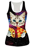 Leapparel Women's Cool Design 3d Printed Sleeveless Racerback Tank Top Vest Shirts