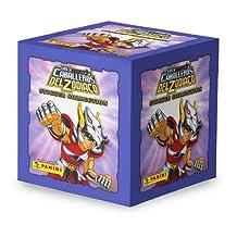 Caja con 50 sobres (250 estampas) de Caballeros del Zodiaco