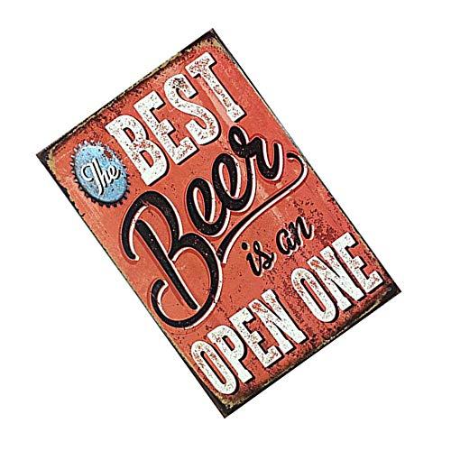 Aofocy 12x8 Pulgadas Cerveza Tema Vintage Cartel de Metal Cartel de Chapa Taberna Bar Pub Tienda Retro