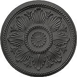 Ekena Millwork CM18EDSGS Edinburgh Ceiling Medallion, Steel Gray