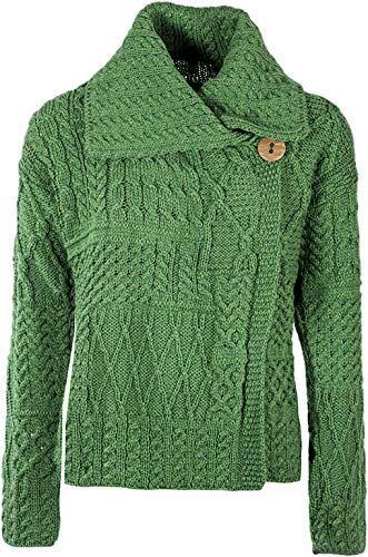 St Patrick's Day Carraig Donn Ladies Patchwork Cardigan, Kiwi Green (XX-Large)]()
