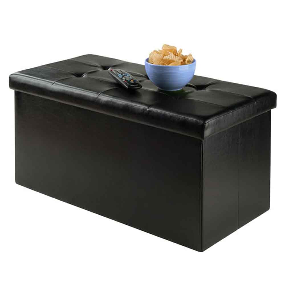 Winsome Wood 20627-WW Furniture Piece Ashford Ottoman with Storage Faux Leather by Winsome Wood (Image #2)
