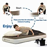 Etekcity Air Pump Air Mattress Pump for Inflatable Blow up Pool Raft Bed Boat Toy Exercise Ball,Quick-Fill AC Inflator Deflator with Nozzles,110-120V (AC Pump)