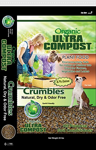 Ultra Compost Crumbles 25 lb bulk box (Organic Soil Conditioner)