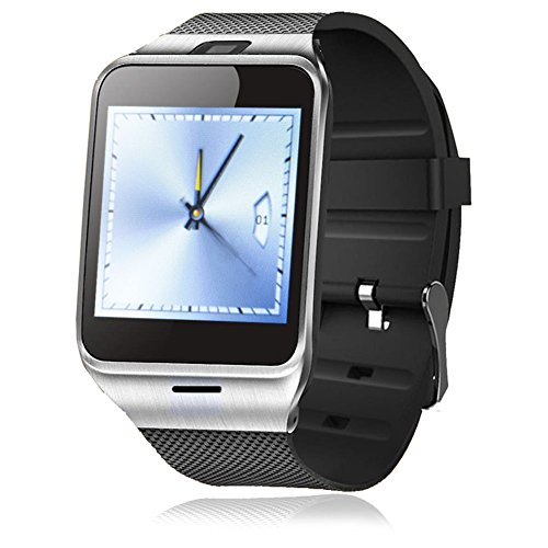 Singe Bluetooth SmartWatch NFC Waterproof Phone Watch for Smartphones Android Samsung S3S4S5S6S6 Edge Note 2Note 3 Note 4 HTC M8M9 Sony-Black