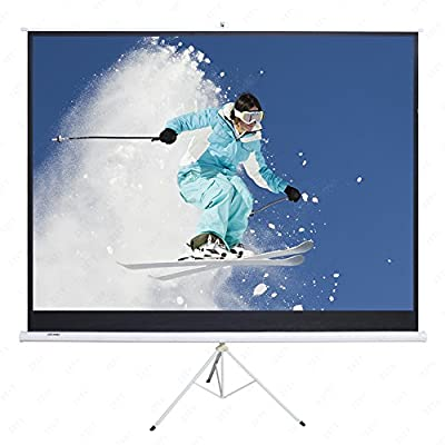"AURORA 100"" Portable Projector Screen,100 Inch Diagonal Projection HD 16:9 Projection Pull Up Foldable Stand Tripod"