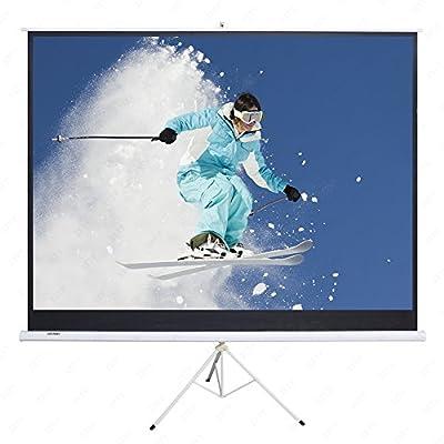 SUNCOO 100 Inch HD 16:9 Portable Projector Screen Diagonal Projection