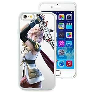 6 TPU case,Final Fantasy Xiii Girl Sword Cloak Strike White iPhone 6 TPU cover