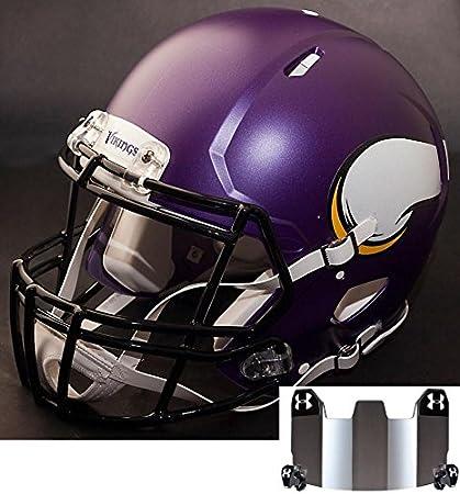 175d11ec7ba7b Riddell Speed Minnesota Vikings NFL Replica - Casco de Fútbol con Casco de  Fútbol S2BDSP Facemask