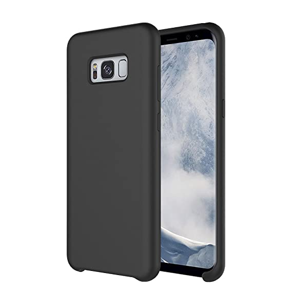 new product 58e01 b1b91 YCFlying Compatible Galaxy S8 Case, S8 Silicone Case Cover Liquid Silicone  Gel Rubber Case with Soft Microfiber Cloth Lining Cushion Support Galaxy S8  ...