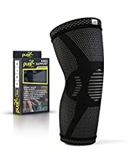 PURE SUPPORT Compression Knee Sleeve - Best Knee Brace for Meniscus Tear, Arthritis, Quick Recovery, etc. - Ideal for Running, Crossfit, Basketball and Other Sports - Single Wrap