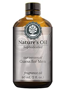 Guess for men Fragrance Oil (60ml) For Cologne, Beard Oil, Diffusers, Soap Making, Candles, Lotion, Home Scents, Linen Spray, Bath Bombs
