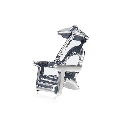 5c172879a The Kiss Beach Chair Umbrella 925 Sterling Silver Bead Fits European Charm  Bracelet