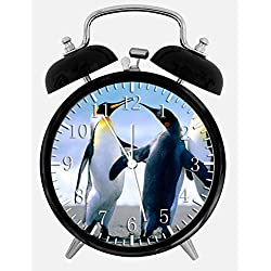 Cute Penguin Alarm Desk Clock 3.75 Home Office Decor Z103 Nice For Gifts