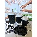 100-bicchieri-di-carta-usa-e-getta-a-pareti-ondulate-di-colore-nero-per-caff-e-t-bevande-caldefredde-feste-viaggi-asporto-picnic-Black-340-ml