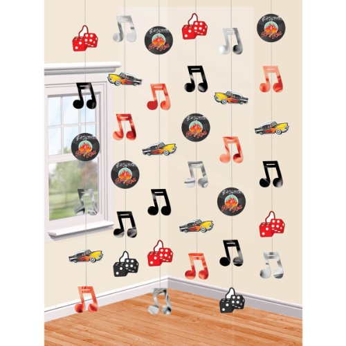 50's Party String Decoration, 6-7', 6 Ct.