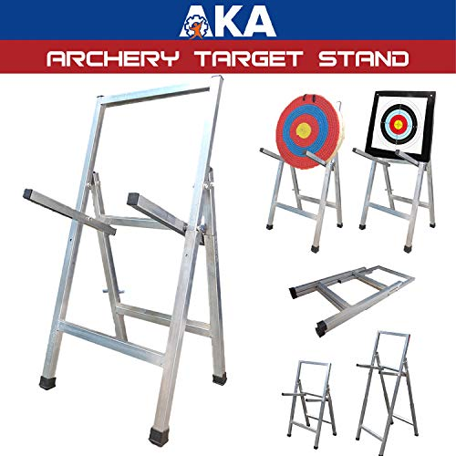 AKA Sports Gear Adjustable Archery Target Stand-Heavy Duty  Portable Steel Stand for Archery Target  