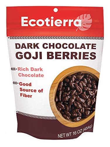 EcoTierra Dark Chocolate-Covered Goji Berries