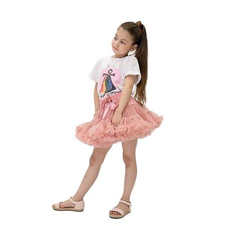 LUOSI Falda de tutú de Mujer Ballet Pettiskirt 3 Capas Fluffy Full ...