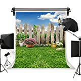 Kate Spring Photography Backdrops lawn Garden Backdrop Party Sunny Blue Sky Photographic Background for Children 10x10ft(3x3m)