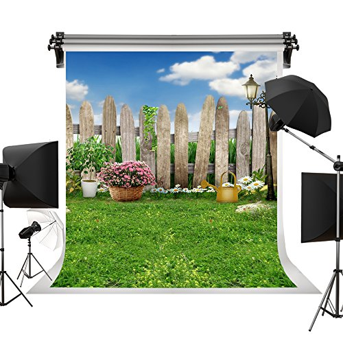 Kate Spring Photography Backdrops lawn Garden Backdrop Party Sunny Blue Sky Photographic Background for Children 10x10ft(3x3m) by Kate