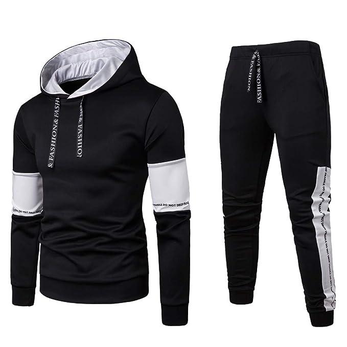 Herren Traininganzug Set Sportanzug Pullover Hoodies Hosen Fitness Jogginganzug