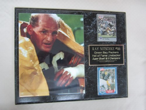 Ray Nitschke Green Bay Packers 2 Card Collector Plaque w/8x10 Photo! (Bay Packers Ray Green Nitschke)