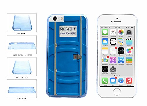 Funny Porta Potty Clear Plastic Phone Case Back Cover Apple iPhone 6 6s (4.7 inches screen) includes BleuReign(TM) Cloth and Warranty ()