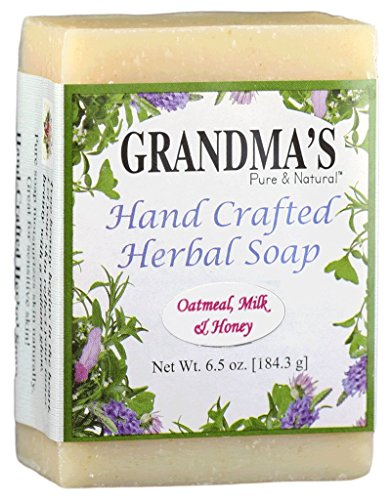 (Grandma's Herbal Soap Bar - 6.0 oz Oatmeal, Milk & Honey Face & Body Wash Cleans with Rich & Luxurious Lather - 51611)