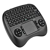 Wosweet 2.4Ghz Mini Wireless Keyboard Mouse Touchpad Rechargable Li ion Battery For PC / Pad / Xbox 360 / PS3 / Google Android TV Box / HTPC / IPTV(Black)