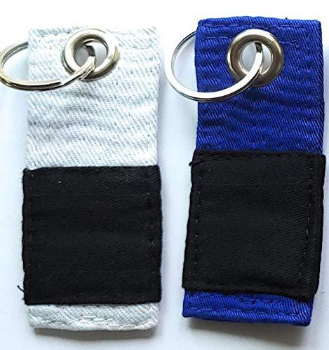Your Jiu Jitsu Gear Belt Key Chain (White/Blue)
