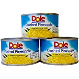 Dole Crushed Pineapple in 100% Pineapple Juice 8 Oz. Can (Pack of 3).