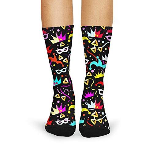Tasbon Women's Athletic Socks Halloween Holiday halloween stores near me halloween costumes for women Classic Breathable Comfort Crew Socks -
