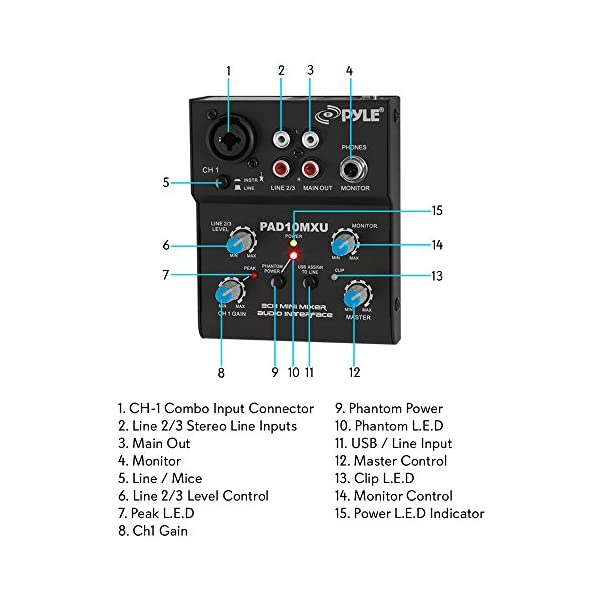 3 5mm jack wiring diagram combo pyle 2 channel audio mixer dj sound controller interface with  pyle 2 channel audio mixer dj sound