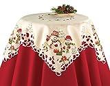 Snowman Couple Christmas Table Linens, Square