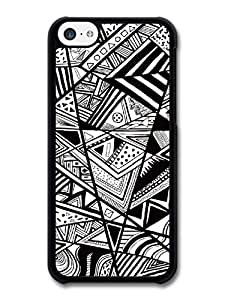 Cool Black and White Style Hipster Grunge Print Pattern Design carcasa de iPhone 5C