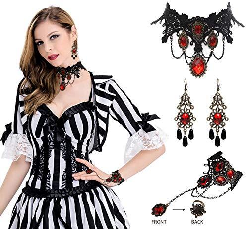 Gothic Lace Vampire Costume - 4